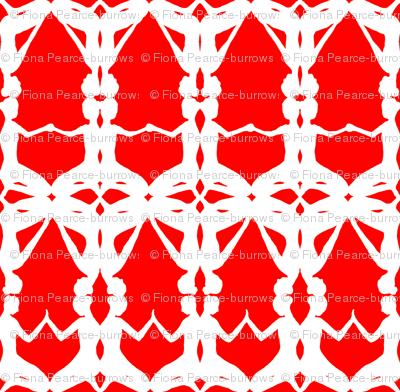 kneeling women-Red