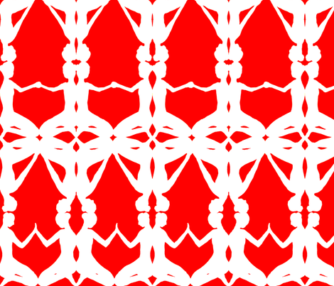 kneeling women-Red fabric by fionapearceburrows on Spoonflower - custom fabric