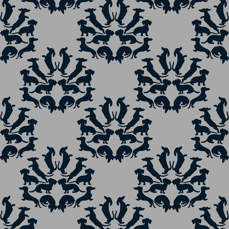 Custom_doxie_damask_midnight_blue_on_gray_rev2_shop_preview