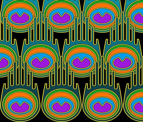 AB-Peacock-ArtDeco fabric by alexa_bee on Spoonflower - custom fabric