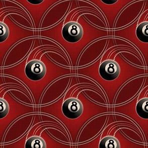 ★ MAGIC EIGHT BALL ★ Red - Small Scale / Collection : 8 Balls - Billiard & Rock 'n' Roll Old School Tattoo Print
