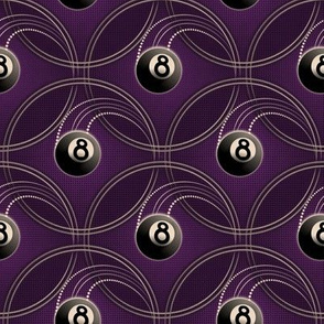 ★ MAGIC EIGHT BALL ★ Purple - Small Scale / Collection : 8 Balls - Billiard & Rock 'n' Roll Old School Tattoo Print