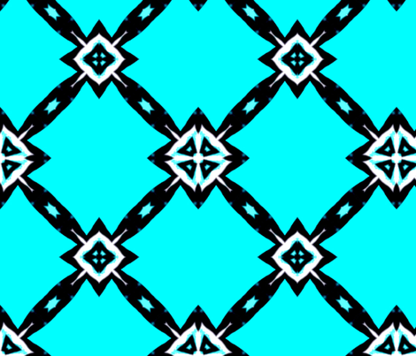 Art Deco - Geometric Gardens fabric by dovetail_designs on Spoonflower - custom fabric
