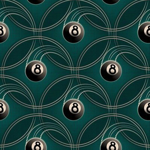 ★ MAGIC EIGHT BALL ★ Teal - Small Scale / Collection : 8 Balls - Billiard & Rock 'n' Roll Old School Tattoo Print