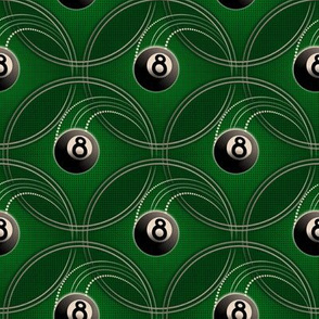 ★ MAGIC EIGHT BALL ★ Green - Small Scale / Collection : 8 Balls - Billiard & Rock 'n' Roll Old School Tattoo Print