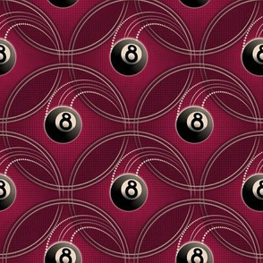 ★ MAGIC EIGHT BALL ★ Pink - Small Scale / Collection : 8 Balls - Billiard & Rock 'n' Roll Old School Tattoo Print