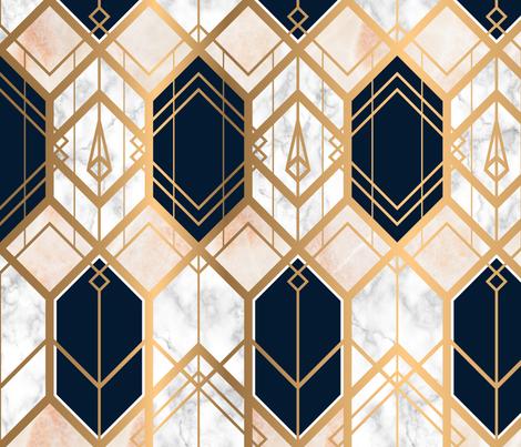 Art Deco Marble & Gold fabric by sylwia_siurek on Spoonflower - custom fabric