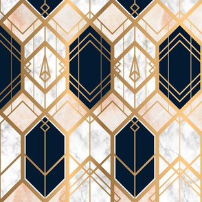 Art Deco Marble & Gold