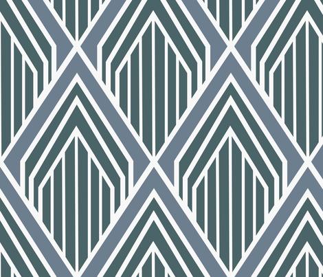 art deco fabric by flowie on Spoonflower - custom fabric