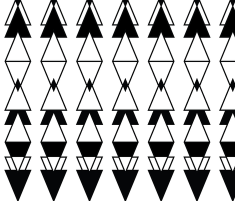 Large Scale Deco Reflection  fabric by earthcadets on Spoonflower - custom fabric