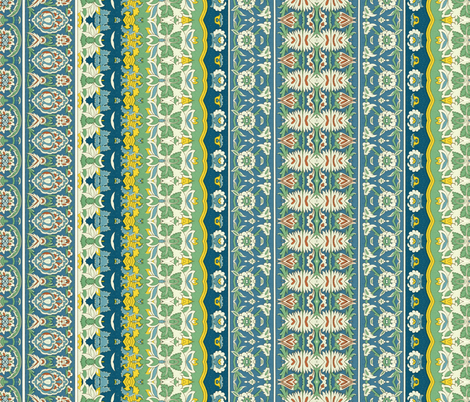 indo-persian 395 fabric by hypersphere on Spoonflower - custom fabric