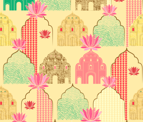Art deco Indian elements fabric by artypeaches on Spoonflower - custom fabric