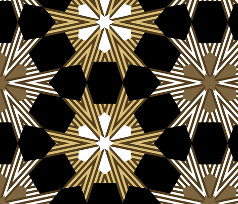 Art Deco Geometric Star Pattern fabric by jendesignz on Spoonflower - custom fabric