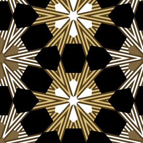 Art Deco Geometric Star Pattern