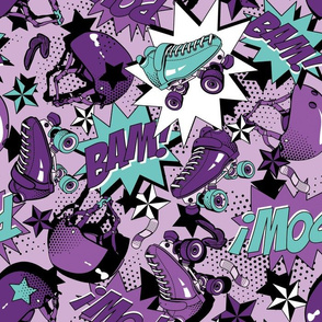 Roller Derby Slam - Purple and Teal