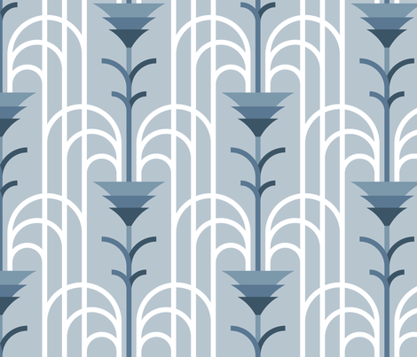 Cascade Infinie (cerulean) fabric by jjtrends on Spoonflower - custom fabric
