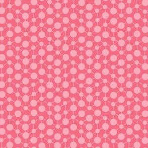 Coral Pink Solid || Geometric Texture Dots Spots Peach Orange White Baby Girl _ Miss Chiff Designs