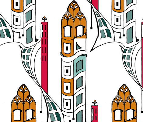 high rise fabric by baiecoco on Spoonflower - custom fabric