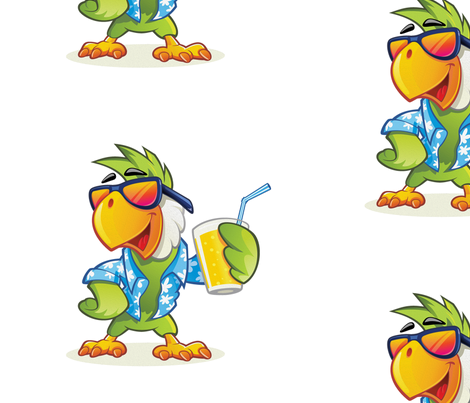 Cool Parrot fabric by marky_lee on Spoonflower - custom fabric