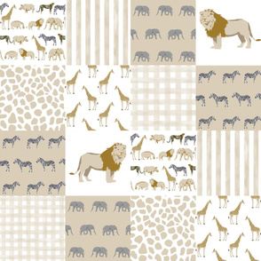 safari quilt baby neutral lion giraffe nursery crib