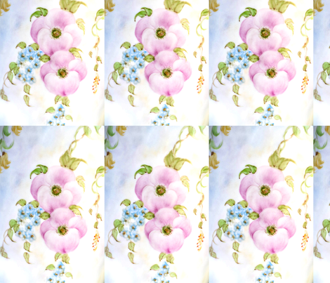 Sweet Peony's fabric by lissikaplan on Spoonflower - custom fabric