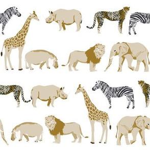 safari quilt rhino elephant giraffe coordinate cute nursery fabric
