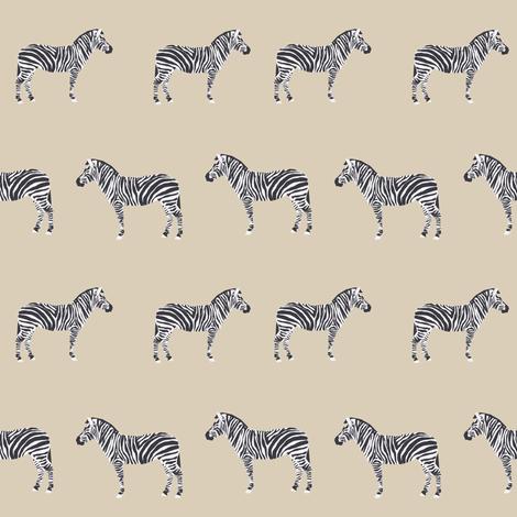 safari quilt zebra coordinate cute nursery fabric  fabric by charlottewinter on Spoonflower - custom fabric
