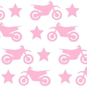 Dirt Bike and Stars Pink