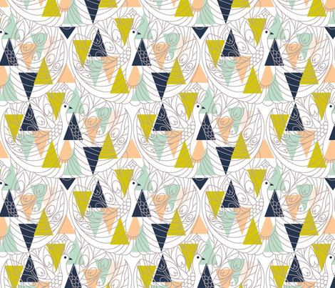 Art Deco  fabric by theboutiquestudio on Spoonflower - custom fabric