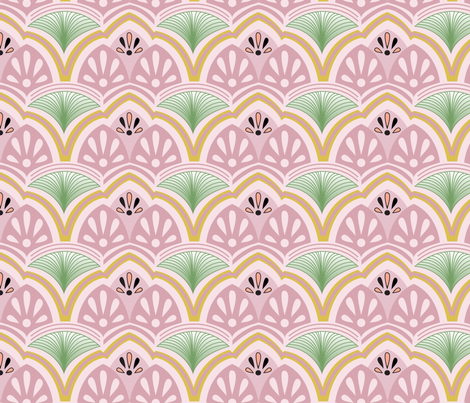 Tropical Art Deco fabric by paigeangel on Spoonflower - custom fabric