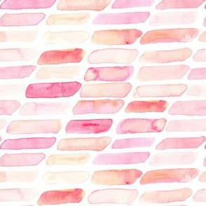 Watercolor Abstract Bars || Pastel yellow Blush Pink Peach Coral White Orange Geometric  Dots Baby Girl _ Miss Chiff Designs