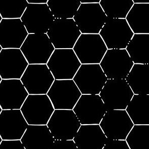 Hex Honeycomb - Black
