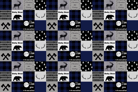 Baby bear - love you to the moon fabric by moonsheets on Spoonflower - custom fabric
