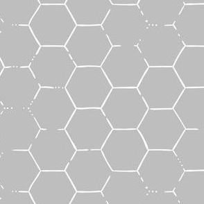 Hex Honeycomb - Gray