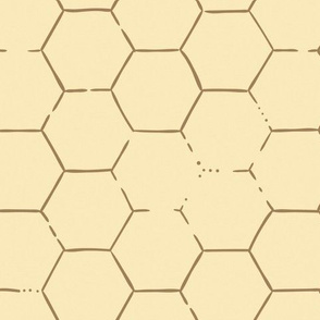 Hex Honeycomb Large - Yellow