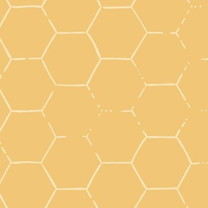 Hex Honeycomb Large - Gold