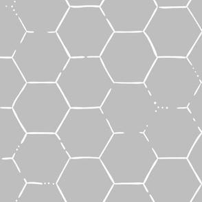 Hex Honeycomb Large - Gray
