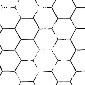 Hex Honeycomb Large - White