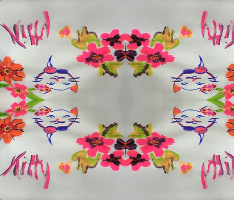 photo kitty 2 fabric by pdrach1962 on Spoonflower - custom fabric