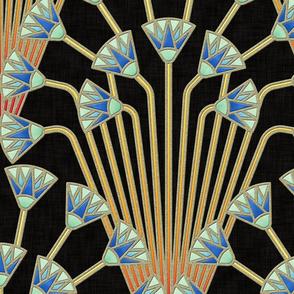 papyrus flowers (dark)