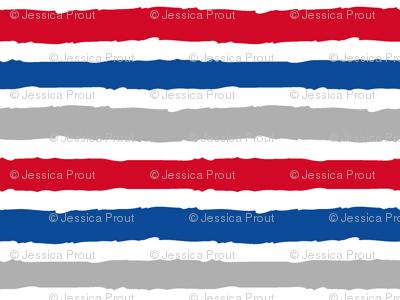 multi stripes - red, blue, grey