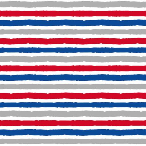 multi stripes - red, blue, grey fabric by littlearrowdesign on Spoonflower - custom fabric