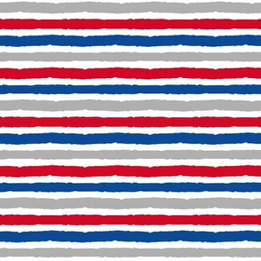 multi stripes - red, blue, grey