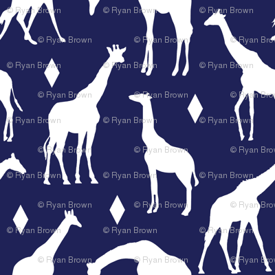 Giraffes on Deep Blue // Large
