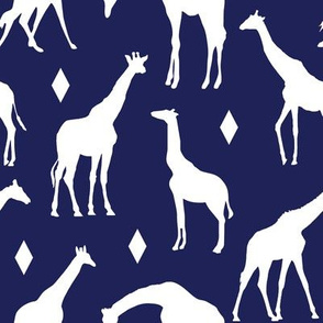 Giraffes on Deep Blue // Large