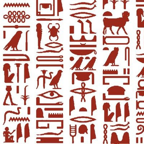 Red Egyptian Hieroglyphics // Large