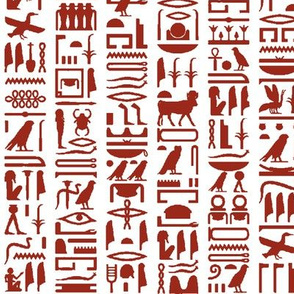 Red Egyptian Hieroglyphics // Small