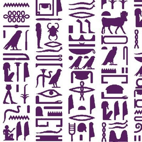 Purple Egyptian Hieroglyphics // Large