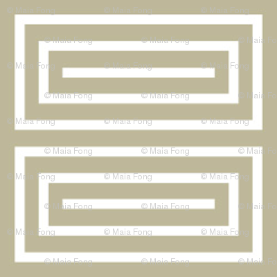Deco white and beige rectangles