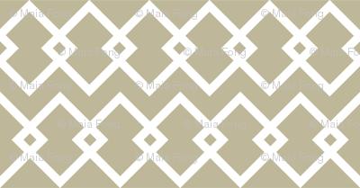 Geometric white and beige diamonds